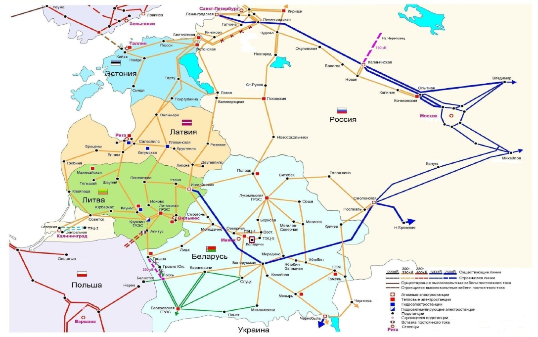 Балтийская АЭС - эксклавная станция.